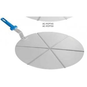 Поднос круглый d=50 см.алюм.для пиццы на 6 сегментов с ручкой Gimetal /1/