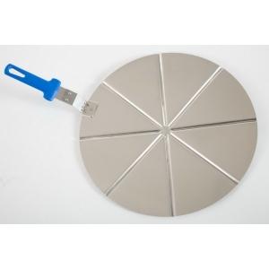 Поднос круглый d=50 см.алюм.для пиццы на 8 сегментов с ручкой Gimetal /1/
