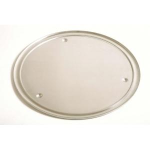 Поднос круглый d=40 см. для пиццы с бортиком и ножками, алюм. Gimetal