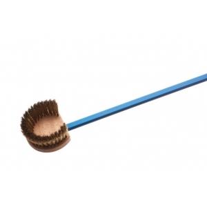 Щетка для печи l=150 см. 24*17*7 см. с медной щетиной, круглая Gimetal