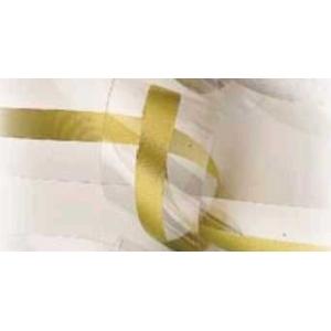 Лента-оборка 2-сл., h=4,5 см., 50 м/рул. прозрачная с ЗОЛОТОЙ полосой