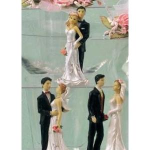 Фигурка Свадебная пара h=12,5 см. пласт. /4/