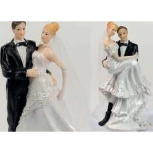 Фигурка Свадебная пара h=15,5 см. (2 модели) пласт. /4/