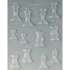 """Форма для отлив.шок.конфет """"Шахматные фигурки"""" d=50 h=14 мм. 12 конфет"""
