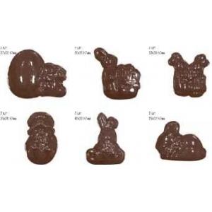 Форма для отлив.шок.конфет (яйцо и 5 видов кроликов)