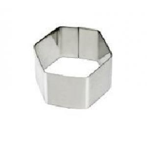 """Форма для выкладки/выпечки """"Шестиугольник"""" l=7 см h=4,5 см MGSteel"""