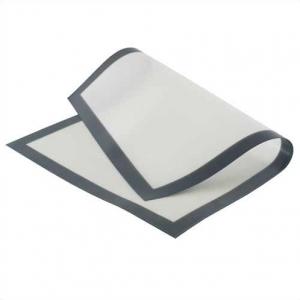 Коврик силиконовый 39,5*59,5 см. белый на ткан.основе