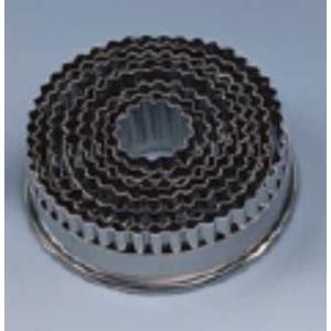 """Набор вырубок для теста """"Круг"""" рифлен.края 9 шт. d=30-110 мм нерж."""