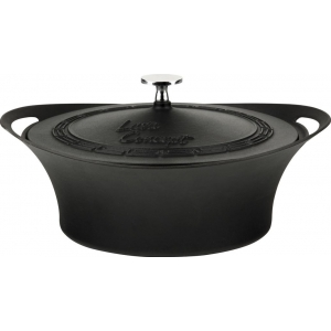 Кастрюля 2,5 л. чугун d=24 см. чёрная LAVA