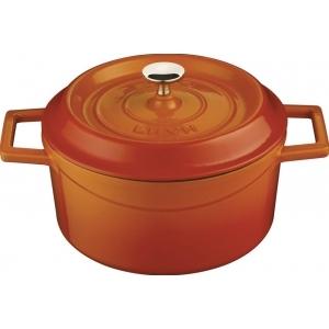 Кастрюля 1,0 л. чугун d=16 см. оранжевая LAVA