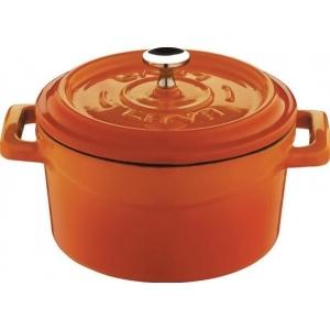 Кастрюля 1,7 л. чугун d=18 см. оранжевая LAVA