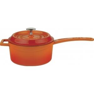Сотейник 1,0 л. чугун d=16 см. оранжевая LAVA