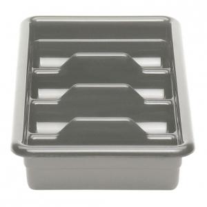 Емкость для столовых приборов 4 секции (светло-серая) Cambro