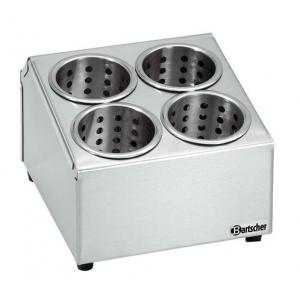 Емкость для столовых приборов на 4 секции (подставка) без стаканов BARTSCHER