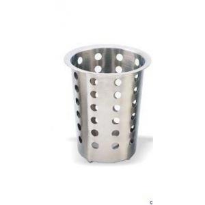 Емкость для столовых приборов (стакан) d=95 мм. h=130 мм. перфор.нерж. MGSteel