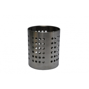 Емкость для столовых приборов (стакан) d=100 мм. h=125 мм. перфор., нерж. MGSteel /96/