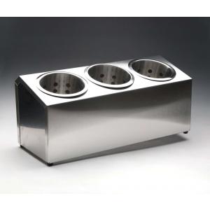 Емкость для столовых приборов 3 емк. нерж. Luxhstahl