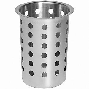 Емкость для столовых приборов (стакан) d=110 мм. h=130 мм. перфор.нерж. Luxhstahl