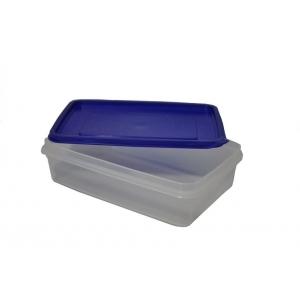 Контейнер для продуктов прямоуг. 1,3 л 22*14,5*6см с синей крышкой MG /60/