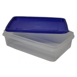 Контейнер для продуктов прямоуг. 3,4 л 29*19*9 см с синей крышкой MG /30/