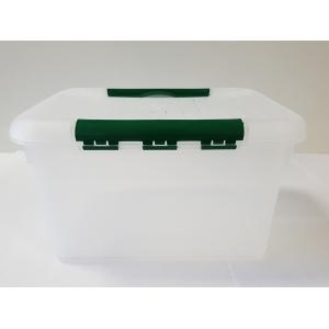 Контейнер для продуктов прямоуг. 8 л 30*23*16 см с зеленым зажимом MG/10/