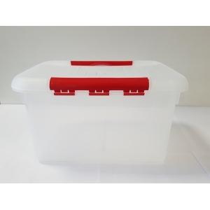 Контейнер для продуктов прямоуг. 8 л 30*23*16 см с красным зажимом MG/10/