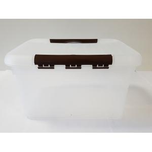 Контейнер для продуктов прямоуг. 8 л 30*23*16 см с коричневым зажимом MG/10/
