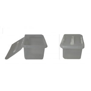 Контейнер для продуктов прямоуг. 6 л 30*23*12 см с ручкой с белым зажимом MG /12/