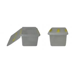 Контейнер для продуктов прямоуг. 6 л 30*23*12 см с ручкой с желтым зажимом MG /12/
