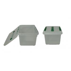 Контейнер для продуктов прямоуг. 6 л 30*23*12 см с ручкой с зеленым зажимом MG /12/