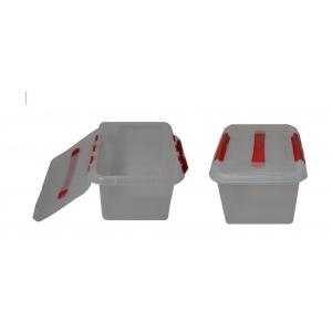 Контейнер для продуктов прямоуг. 6 л 30*23*12 см с ручкой с красным зажимом MG /12/
