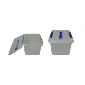 Контейнер для продуктов прямоуг. 6 л 30*23*12 см с ручкой с синим зажимом MG /12/
