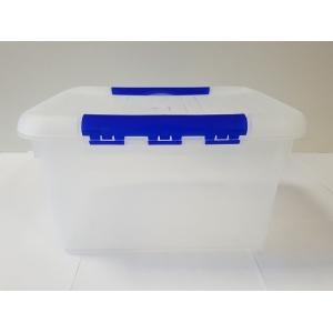 Контейнер для продуктов прямоуг. 6 л 30*23*12 см с синим зажимом MG /12/