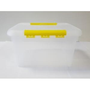 Контейнер для продуктов прямоуг. 6 л 30*23*12 см с желтым зажимом MG /12/