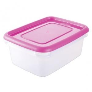 Контейнер для продуктов прямоуг. 1,5 л  п/п розовый Рс /30/