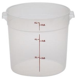 Контейнер для пищ. продуктов круглый мерный  5,7л. Cambro