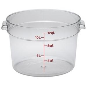 Контейнер для пищ. продуктов круглый мерный 11,4л. поликарб. Cambro