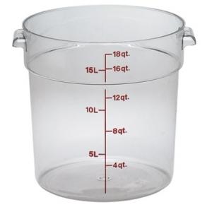 Контейнер для пищ. продуктов круглый мерный 17,2л. поликарб. Cambro