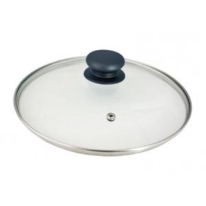 Крышка d=18 см. стекл. с усил. пароотв.+пл.кн