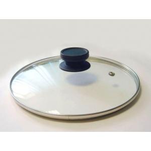 Крышка d=18 см. стекл. с метал. ободком