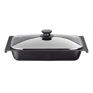 Сковорода 41*29 см. для запекания с крышкой овальная (индукция) Efficient Pinti (272331)