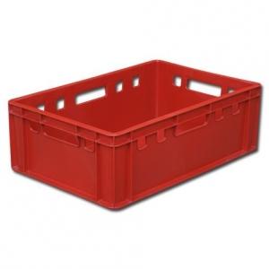 Ящик 600*400*200 мм. Е2 с калиброван. весом, сплошной (красный)