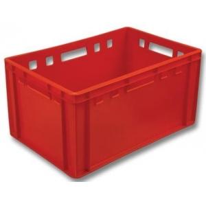 Ящик 600*400*300 мм. Е3 с калиброван. весом, сплошной (красный)