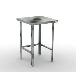 Стол для сбора отходов  600х600х870 без борта, каркас-нерж труба 40х40