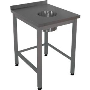 Стол для сбора отходов  600х700х870 с бортом Эконом