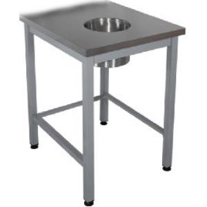 Стол для сбора отходов  600х700х870 без борта Эконом