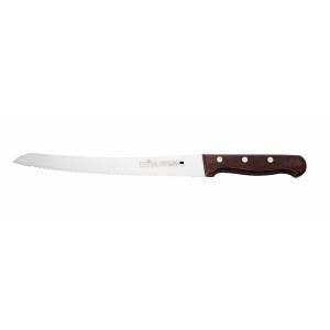 """Нож для хлеба 250мм. деревянная ручка Medium """"Luxstahl"""""""