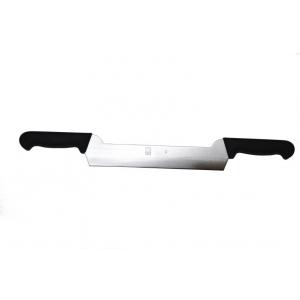 Нож для сыра 260/540 мм. с двумя ручками, черный PRACTICA Icel