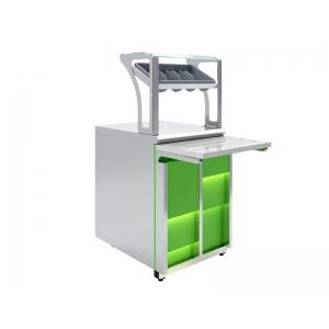 Прилавок для столовых приборов и подносов Luxstahl ПП (С)-600 Premium Neon