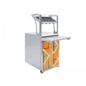 Прилавок для столовых приборов и подносов Luxstahl ПП (С)-600 Premium Pixel